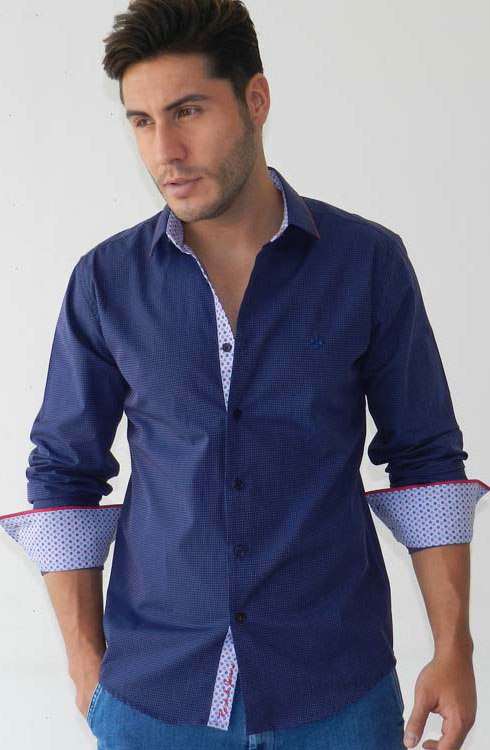 Camisa caballero manga larga 16-5364 | azul