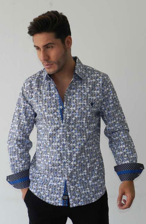 Camisa caballero manga larga 16-5368 | azul