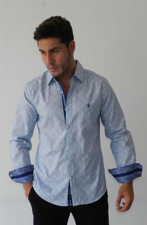 Camisa caballero manga larga 16-5368 | cielo