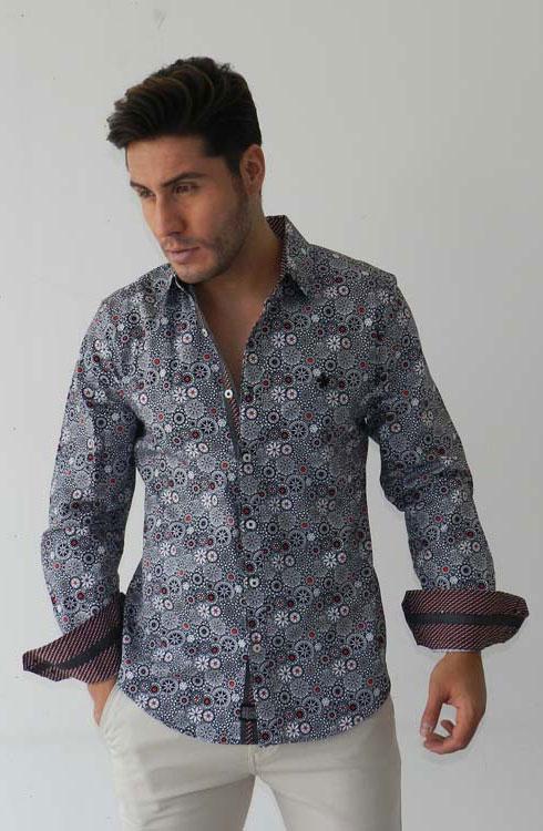 Camisa caballero manga larga 16-5368 | negro