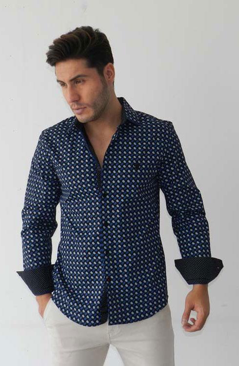 Camisa caballero manga larga 16-5370 | azul