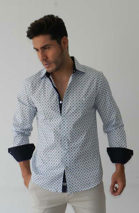 Camisa caballero manga larga 16-5370 | negro