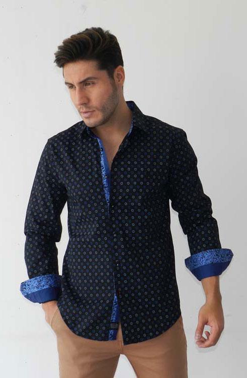 Camisa caballero manga larga 16-5371 | negro