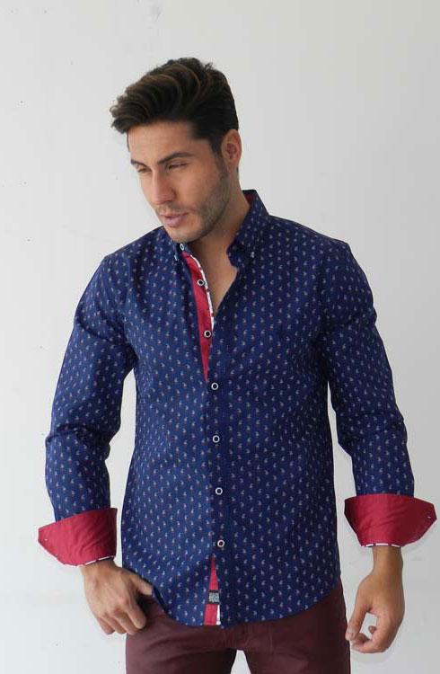 Camisa caballero manga larga 16-5378 | azul