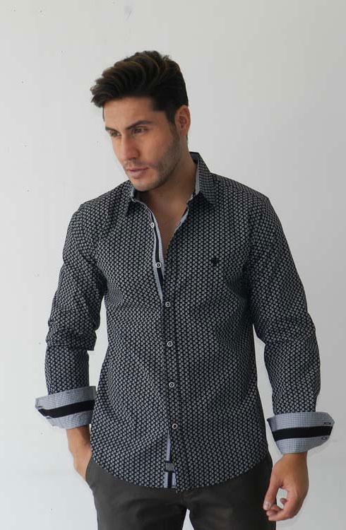 Camisa caballero manga larga 16-5380 | negro