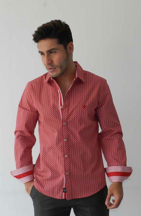 Camisa cabalelro manga larga 16-5380 | rojo