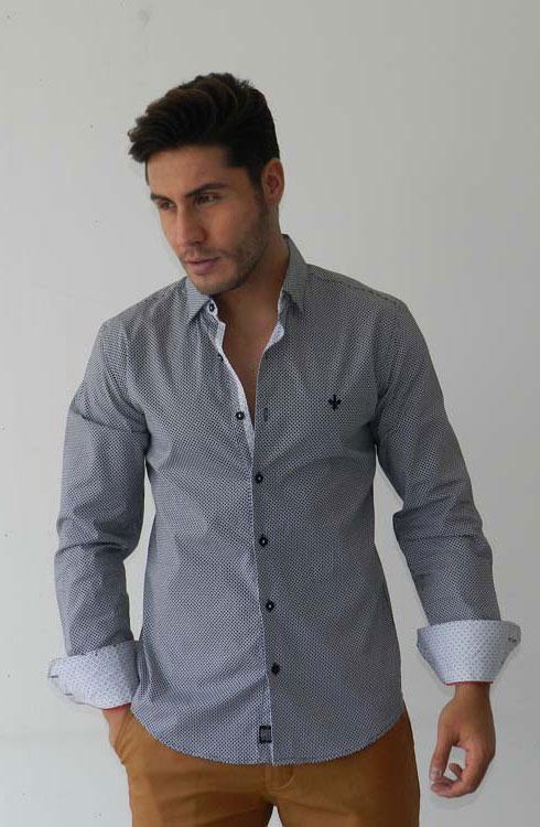 Camisa caballero manga larga 16-5382 | negro