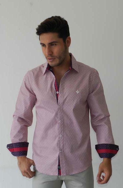 Camisa caballero manga larga 16-5383 | rojo